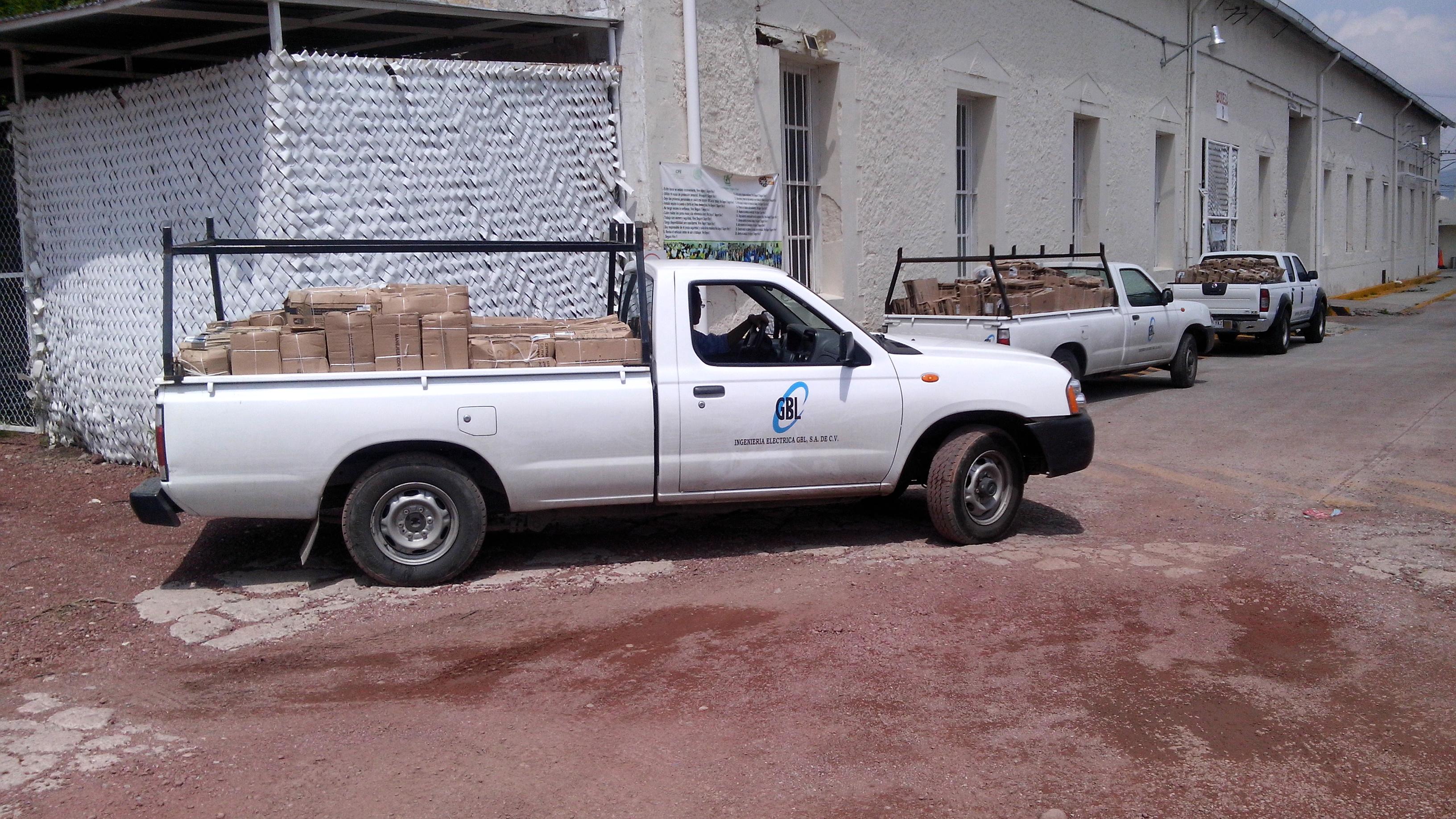 Camioneta con desmantelamientos